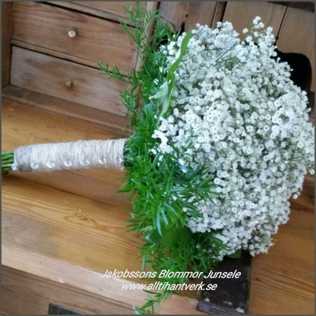 Brudbukett junsele blomsterbutik