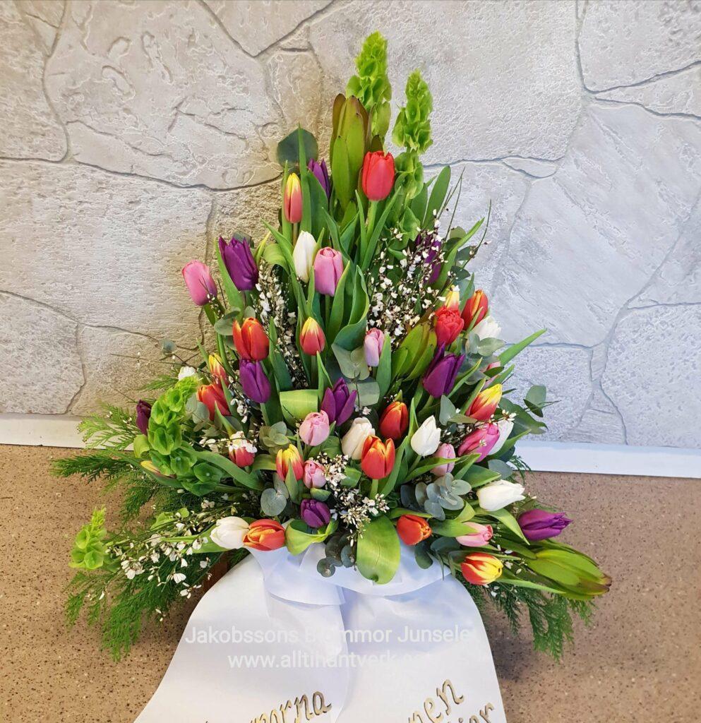 Sorgarrangemang, junsele blomsterbutik